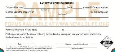 hunting permission liability release form car interior