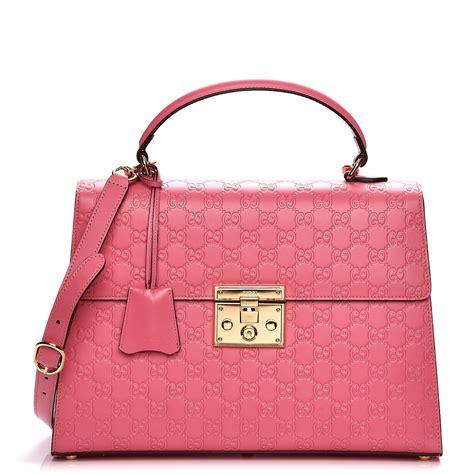 Garucci Bag Pink 2 gucci guccissima medium padlock signature top handle bag pink 208231