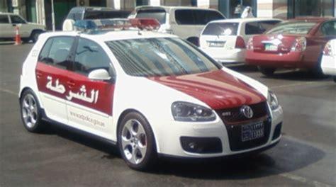 volkswagen dubai vw golf gti dubai police car the german car blog