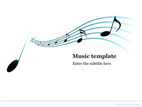 musical powerpoint templates free powerpoint template