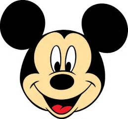 mickey mouse face cliparts