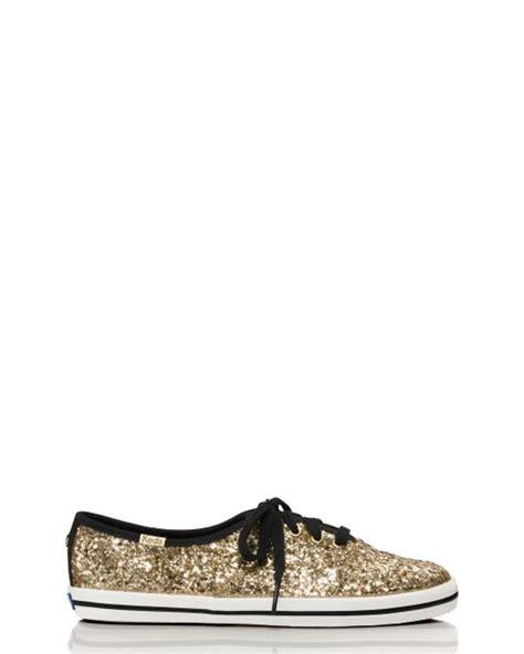 Kate Spade Keds Glitter Sneakers Gold kate spade new york keds for glitter sneakers in metallic