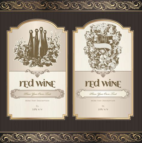free wedding wine label template free vector wine labels collection free vector 13 338 free vector for commercial use