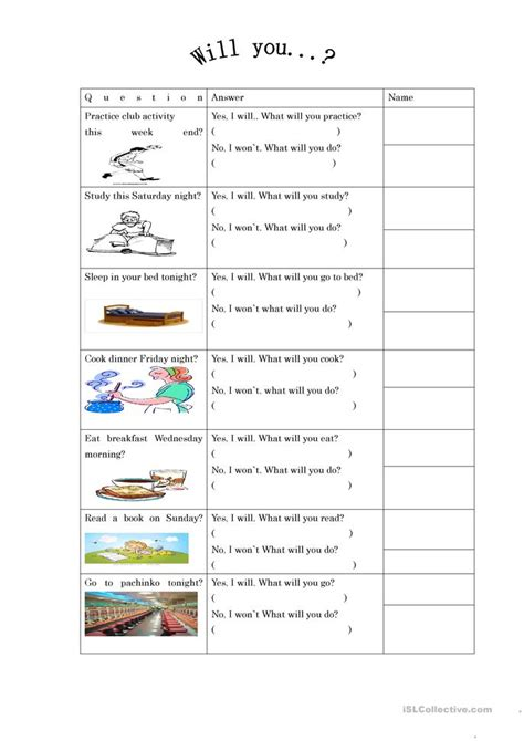 Esl Future Tense Worksheet by Quot Will Quot Future Tense Worksheet Free Esl Printable