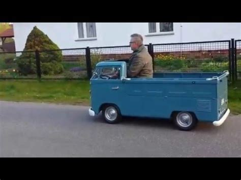 Kinderauto Eigenbau by Vw T1 Pritsche 1 2 Kinderauto Mit Benzinmotor 1 Testfahrt