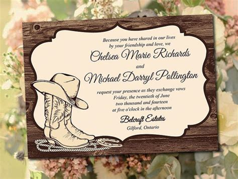 western wedding invitations templates printable wedding invitations 80 free psd vector ai