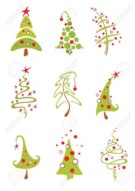 contemporary christmas tree clipart 72