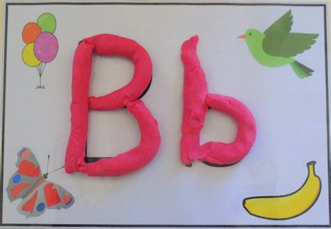 Letter Playdough Mats by Lets Learn Letters Letter B
