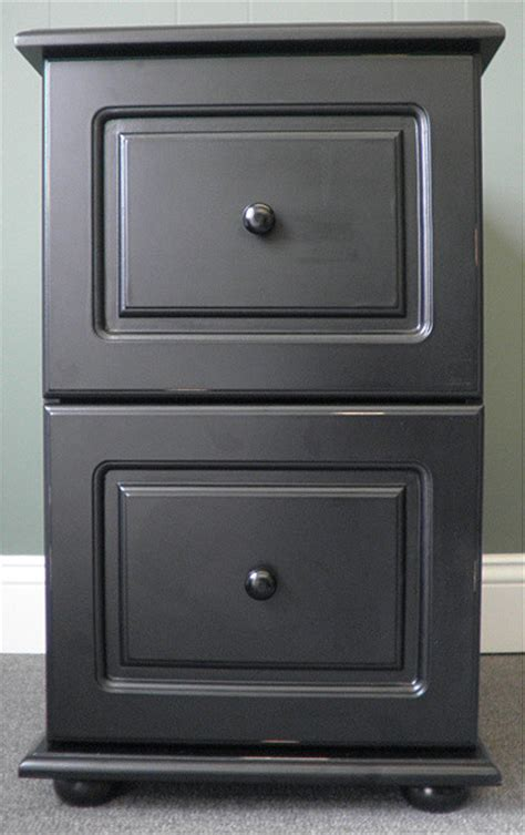 Black Wood Distressed 2 Drawer File Cabinet 104 39 Overstock 2 Drawer Black Wood File Cabinet