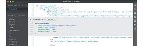 layout editor source code brackets a modern open source code editor that