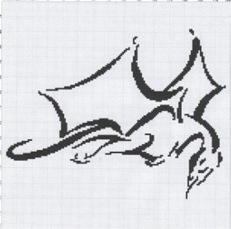 pattern a c e g dragon afghan graph pattern black whit afghans