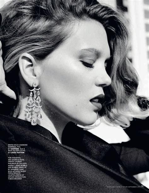 lea seydoux black and white lea seydoux looks ultra glam in louis vuitton for tatler uk