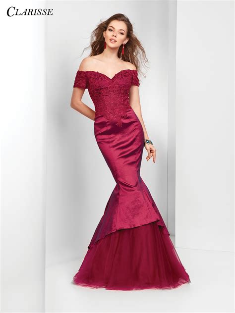 Lace Mermaid Evening Gown 2018 prom dress clarisse 3447 promgirl net