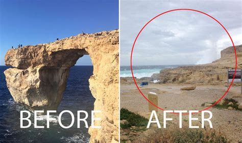 azure window collapses what is the azure window where is it in malta travel news travel express co uk