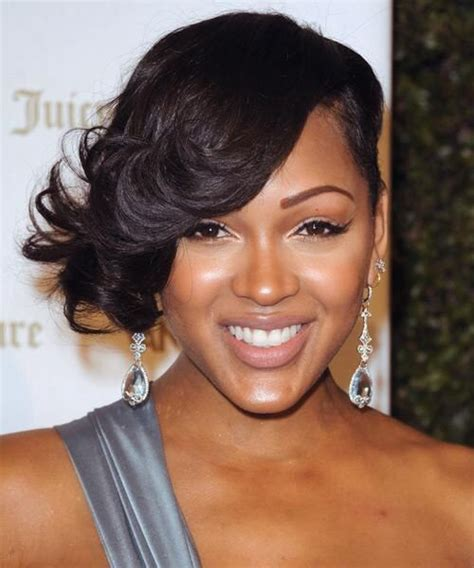 side swept hairstyles for black women 25 best megan good haircut ideas on pinterest