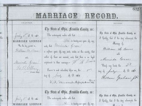 Marriage Licenses In Records Marriage Records Albums
