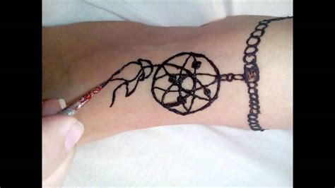 dreamcatcher tattoo youtube dreamcatcher henna on the foot youtube