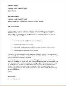 Business Letter For Job Offer job offer letter template for word word amp excel templates