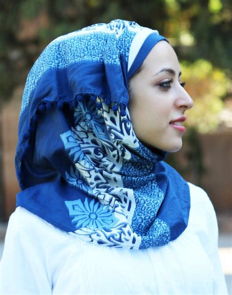 different pattern of hijab blue hijab trends and styles muslimstate