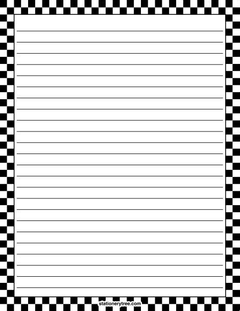 lined paper with empty border printable writing paper with border clipart best