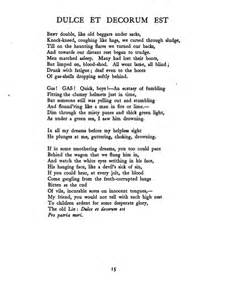 Wilfred Owen Dulce Et Decorum Est Essay by Dulce De Decorum Est Essay