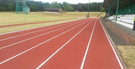 spray painter falkirk running track relining in falkirk athletics track line