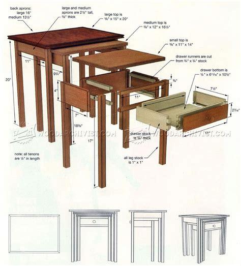 nested tables plans woodarchivist