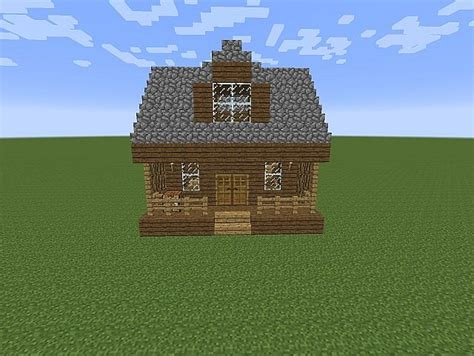 Minecraft Cabin House by Cozy Cabin With Fireplace Minecraft Project