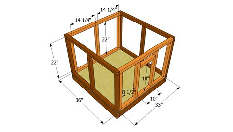dog houses plans attaching the walls free garden plans how to build garden projects