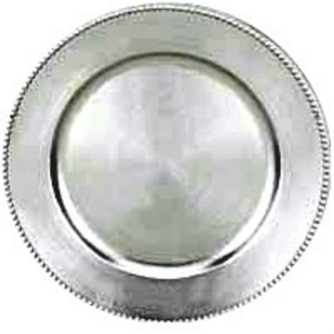 silver charger plates 13 quot set of 6