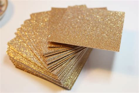 Glitter Paper For Card - gold glitter cardstock wedding invitations and favor tags