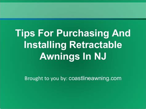 awnings in nj tips for purchasing and installing retractable awnings in nj