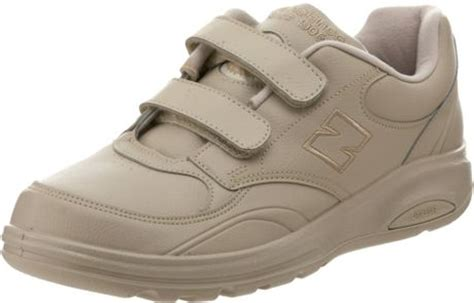 new balance velcro mens shoes new balance mens mw812 velcro walking shoe in beige for