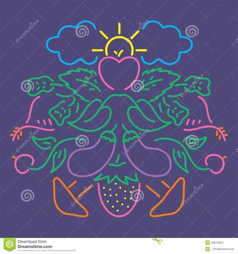 svg change pattern color vegetable color pattern stock vector image 43213954