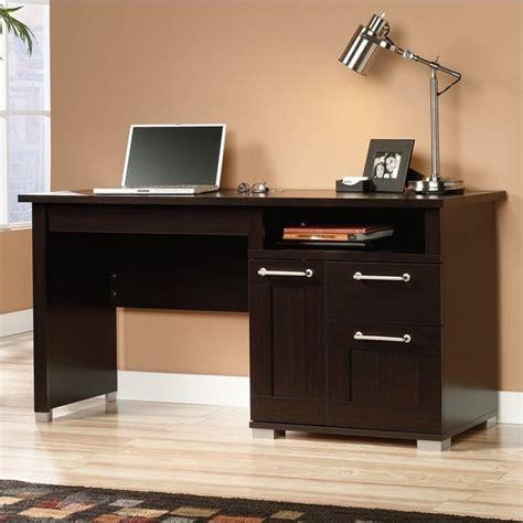 Sauder Office Desks Sauder Town Desk Wood Home Office Desks Espresso Brown Standing In Jamocha Ebay