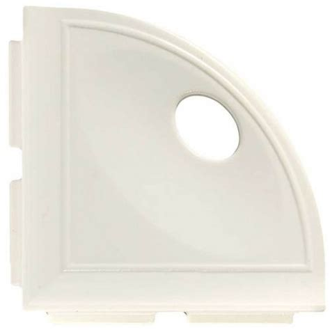 Daltile Bathroom Accessories 5 1 4 Quot Daltile White Gloss Cast Corner Shelf With Flange Bathroom Accessories