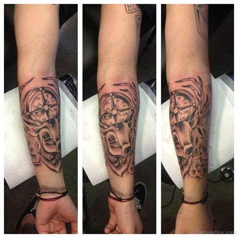 wrist to elbow sleeve tattoo compass tattoos designs pictures page 7