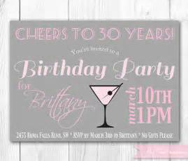 chic cocktail birthday invitation 30th by hautechocolatefavors