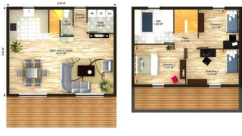 Plan Maison 90m2 Plain Pied 4345 by Plan Maison 90m2 Plain Pied 3 Chambres 15 Maison Wooden