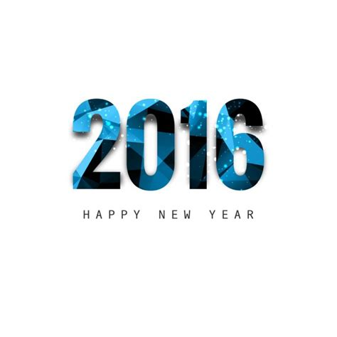 new years text shiny polygonal new year 2016 text vector free