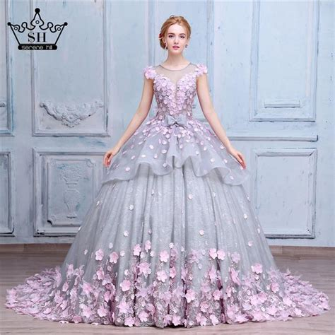 luxury gown flower wedding dress luxury prom dress flosluna flosluna