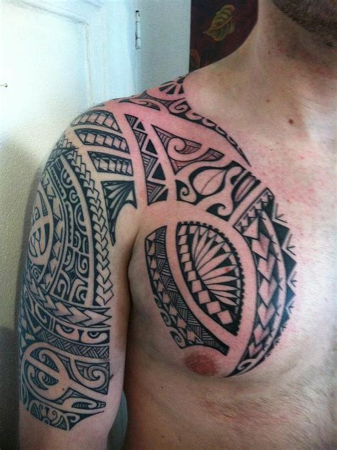 polynesian chest tattoo designs armor