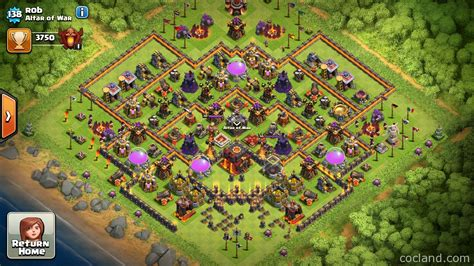 th10 trophy base town hall 10 trophy pushwar base anti golem anti titanium layout for th10 th11 pushing to titan by just