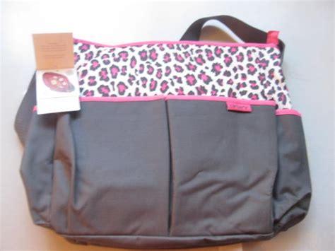 nwt carters cheetah leopard zebra pink brown bag w