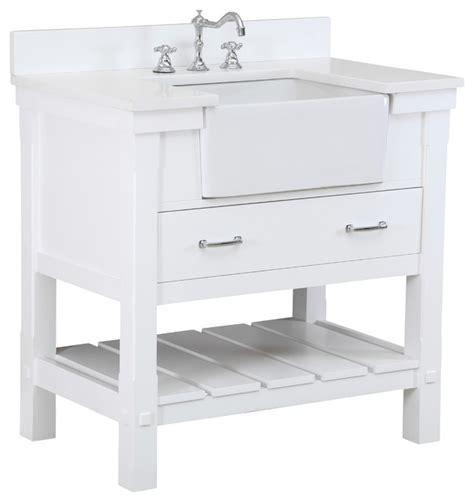 36 farmhouse white charlotte 36 inch farmhouse vanity quartz white