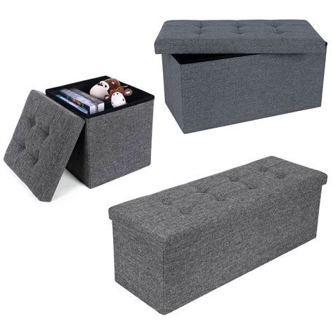 linen storage ottoman bench new grey modern foldaway linen storage ottoman stool bench