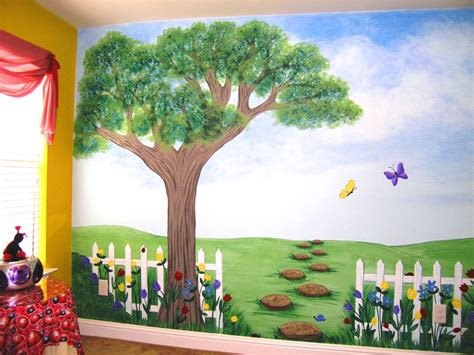 wall murals for children tree to paint on wall children s murals for baby nursery custom children s murals nature