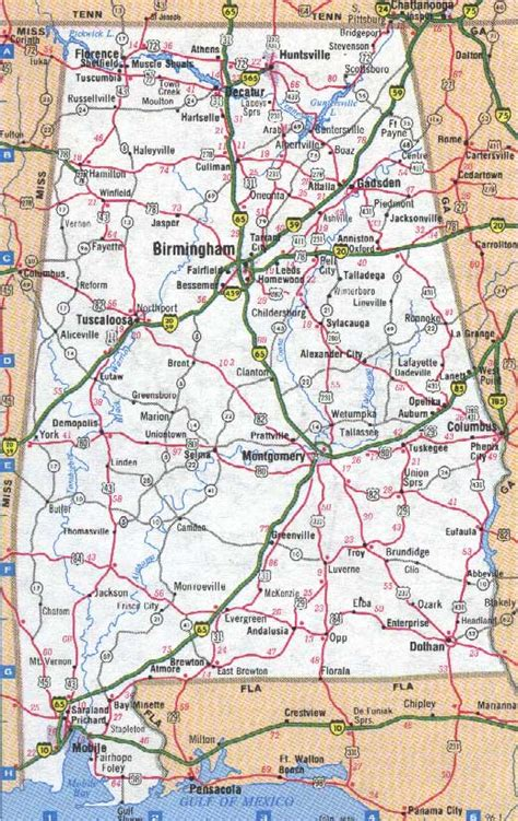 printable alabama road map 4 best images of printable alabama road map alabama