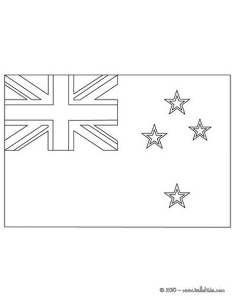 Flag Of New Zealand Coloring Pages Hellokids Com New Zealand Flag Coloring Page