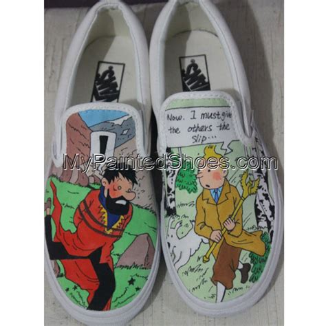 Painted Canvas Slip Ons custom anime vans shoes painted slip on vans